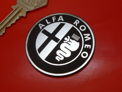 alfa romeo logo style laser cut self adhesive car badge 1 or 2. Black Bedroom Furniture Sets. Home Design Ideas