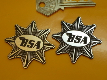 "BSA Star Style Laser Cut Self Adhesive Bike Badge. 2""."