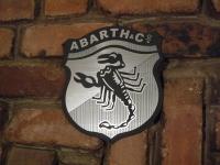 Abarth Shield Logo Garage Workshop Wall Plaque Sign. 5.5