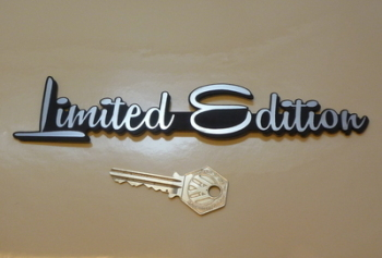 "Limited Edition Script Style Self Adhesive Car or Bike Badge. 7.5""."