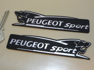 Peugeot Sport Lion Laser Cut Self Adhesive Car Badges 5 Handed Pair