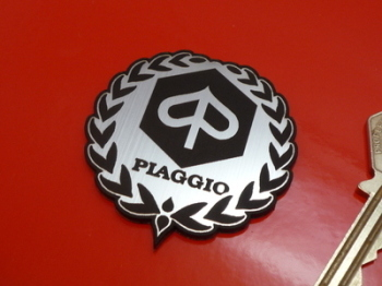 "Piaggio Garland Style Laser Cut Self Adhesive Scooter Badge. 1.75""."