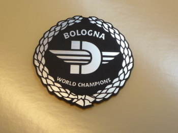 "Ducati Bologna World Champions Garland Style Laser Cut Magnet. 2"""