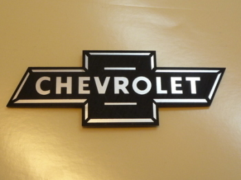 Chevrolet Dicky Bow Style Laser Cut Magnet. 3.75""