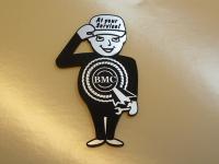 BMC Service Man Style Laser Cut Magnet. 2.5