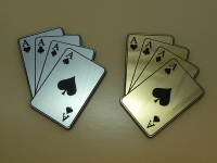 Four Aces Playing Card Style Laser Cut Magnet. 2""
