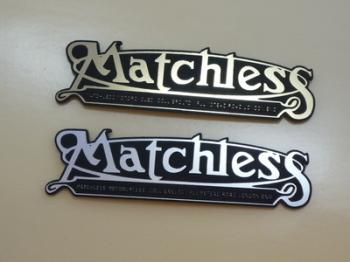 "Matchless Mudguard Script Style Laser Cut Magnet. 3"""