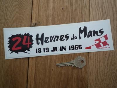 """24 Heures Du Mans 1966 LeMans Le Mans Oblong Sticker. 8.5""""."""