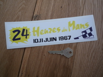 "24 Heures Du Mans 1967 LeMans Le Mans Oblong Sticker. 8.5""."