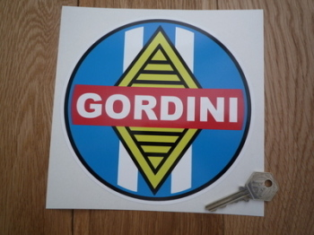 "Renault Gordini Round Sticker. 6.5""."