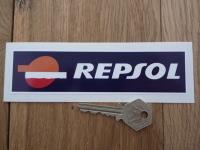 "Repsol 1990's Style Oblong Sticker. 6""."