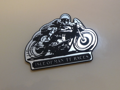 Isle Of Man TT Races Style Laser Cut Magnet. 2.5""