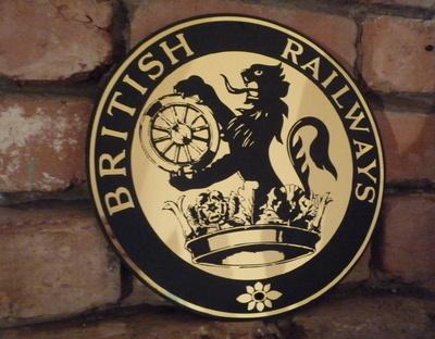 "British Railways Circular Logo Garage Workshop Wall Plaque Sign. 8"" or 11""."