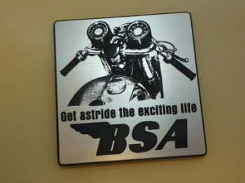 """BSA Get Astride The Exciting Life Advert Style Laser Cut Magnet. 2.75"""""""