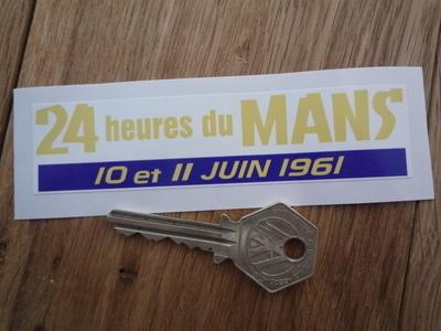 """24 Heures Du Mans 1961 LeMans Le Mans Static Cling Sticker. 4.5""""."""