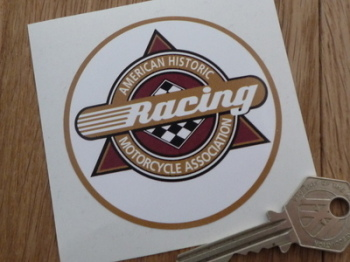 "AHRMA American Historic Racing Motorcycle Association Sticker. 3""."