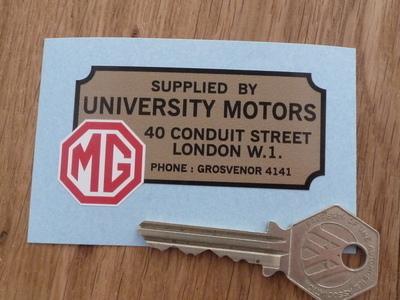 MG University Motors London Dealers Sticker. 2.75