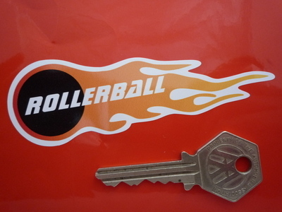 """Rollerball Flame Style Stickers. 4"""" Pair."""