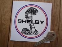 Shelby Circular Logo Sticker. 3.75
