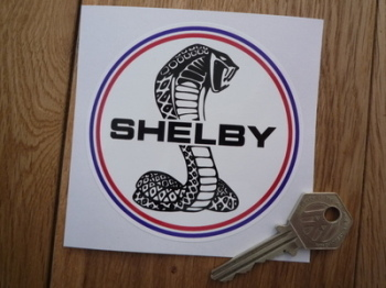 "Shelby Circular Logo Sticker. 3.75""."