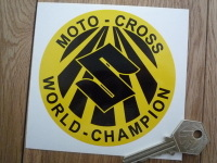Suzuki Moto-Cross World-Champion Sticker. 3