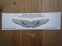 """Aston Martin Helmet Visor Sunstrip Sticker. 12""""."""