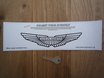 "Aston Martin Helmet Visor Sunstrip Sticker. 12""."