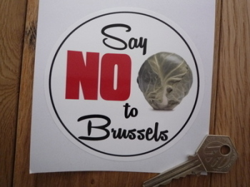 "Say No To Brussles Anti EU Sticker. 4""."