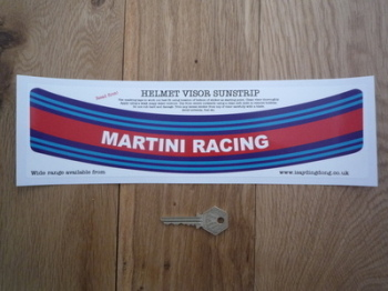 "Martini Racing Helmet Visor Sunstrip Sticker. 12""."