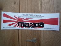 Mazda Helmet Visor Sunstrip Sticker. 12