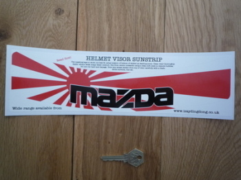 "Mazda Helmet Visor Sunstrip Sticker. 12""."