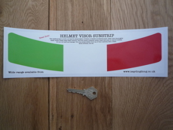 "Italian Tricolore Italy Helmet Visor Sunstrip Sticker. 12""."