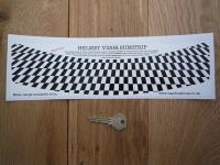 """Chequered Flag Helmet Visor Sunstrip Sticker. 12""""."""