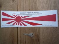 Japanese Navy Flag Japan Helmet Visor Sunstrip Sticker. 12