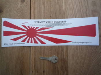 "Japanese Navy Flag Japan Helmet Visor Sunstrip Sticker. 12""."