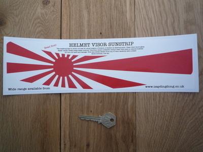 """Japanese Navy Flag Japan Helmet Visor Sunstrip Sticker. 12""""."""