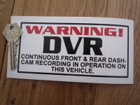 DVR Dash-Cam Recording Warning White Static Cling Sticker. 6