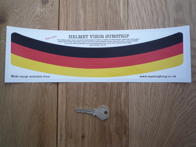 "German Tricolore Germany Helmet Visor Sunstrip Sticker. 12""."