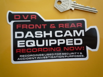 "DVR Dash Cam Equipped Recording Warning Camera Shaped Sticker. 5""."