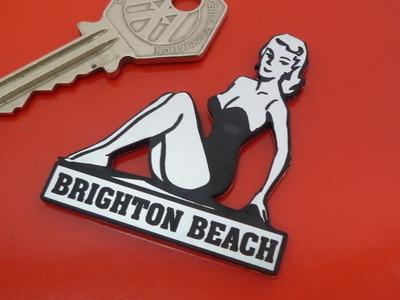"""Brighton Beach Pin Up Girl Self Adhesive Car or Bike Badge. 2"""""""