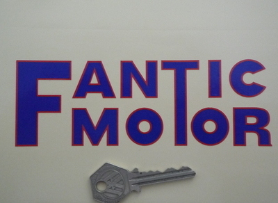 "Fantic Motor Cut Text Sticker. 4"" or 6""."