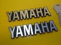 "Yamaha Text Style Laser Cut Self Adhesive Bike Badge. 4""."