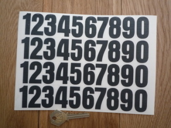 Cut Number Stickers. 1 - 0. Sheet of 40. 35mm Tall.
