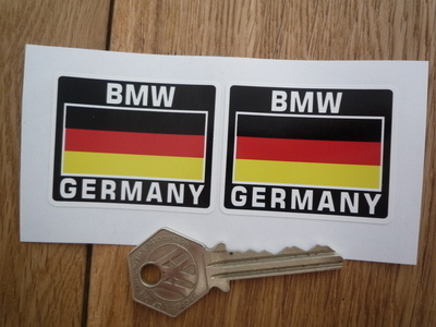 "BMW Germany German Flag Style Stickers. 2"" Pair."