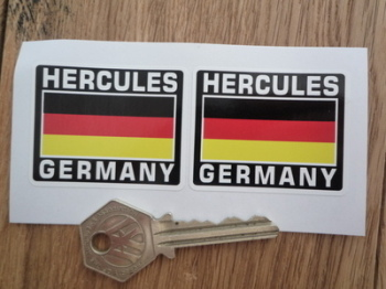 "Hercules Germany German Flag Style Stickers. 2"" Pair."