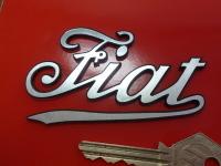 "Fiat Text Laser Cut Self Adhesive Car Badge. 3""."