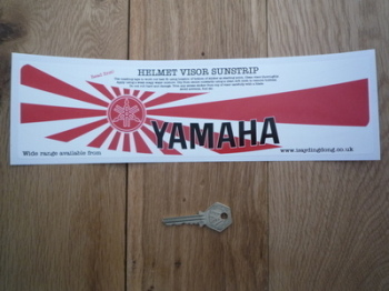 "Yamaha Japanese Flag Style Helmet Visor Sunstrip Sticker. 12""."