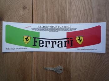 """Ferrari Tricolore Helmet Visor Sunstrip Sticker. 12""""."""