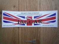 "Jaguar Union Jack Style Helmet Visor Sunstrip Sticker. 12""."