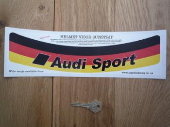 """Audi Sport Tricolour Style Helmet Visor Sunstrip Sticker. 12""""."""